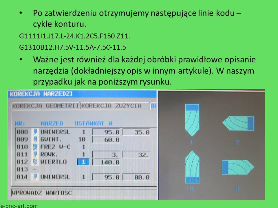 Manual Guide i toczenie G1111 Wiercenie ZY 10