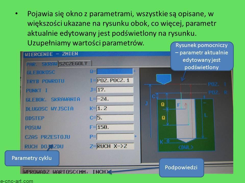 Manual Guide i toczenie G1111 Wiercenie ZY 5