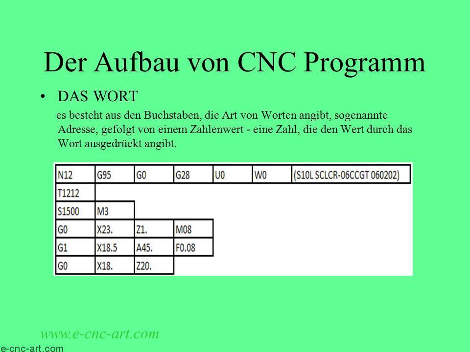 Programmierung von CNC-Werkzeugmaschinen 20